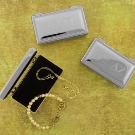 Rectangular Engravable Jewelry Box