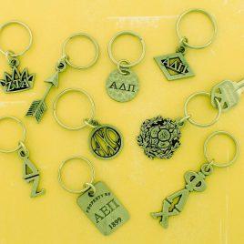 Pewter Greek Key Rings